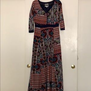 Chloe Oliver from anthropologie maxi dress.